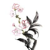 Peinture traditionnelle chinoise illustration libre de droits