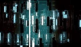 Peinture urbaine de modèle de texture de construction métallique réfléchie abstraite de modèle illustration de vecteur