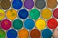 Peinture utilisée d'aquarelle Photographie stock