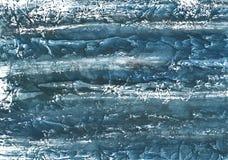 Peinture vague de marbre bleu-foncé de dessin de lavage Photos stock