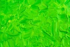 Peinture verte acrylique Photographie stock