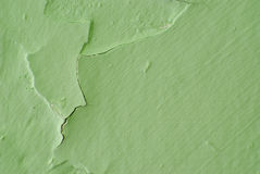 Peinture verte d'écaillement Photos libres de droits