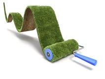 Peinture verte de tapis d'herbe Photos libres de droits