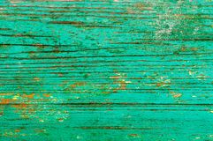 Peinture verte peinte vieux par conseils Photo stock