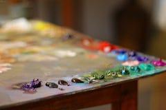Peintures à l'huile Photos stock