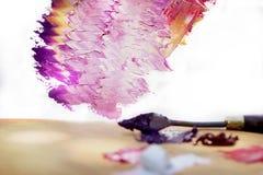 Peintures à l'huile sur la palette Images libres de droits