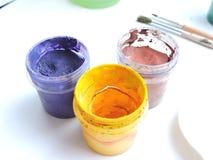 Peintures colorées Photographie stock libre de droits