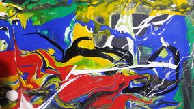 Peintures colorées pour numérique estamper photographie stock libre de droits