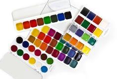 Peintures d'aquarelle sur un fond blanc Image stock