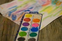 Peintures de bébé Image stock