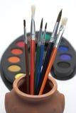 peintures de balais Image libre de droits