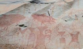 Peintures de caverne antiques en Thaïlande Images stock