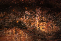Peintures de caverne d'Uluru Photo stock