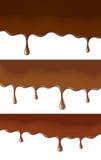 Peintures de chocolat illustration stock