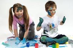 Peintures de couleur image libre de droits