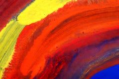 Peintures de couleur d'eau du retrait des enfants Images libres de droits