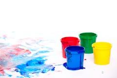 Peintures de doigt image libre de droits