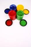 Peintures de doigt Photos libres de droits