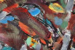 Peintures de fragment dans le style d'avant-garde ethnique illustration libre de droits