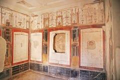 Peintures de fresque sur les murs romains antiques Images libres de droits