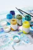 Peintures de gouache Image stock