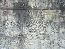 Peintures de mur d'Angkor Photographie stock libre de droits