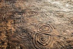 Peintures de roche à la République Dominicaine  Photo libre de droits