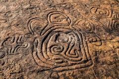 Peintures de roche à la République Dominicaine  Image stock