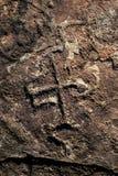 Peintures de roche à la République Dominicaine  Image libre de droits
