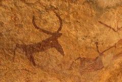 Peintures de roche de Bundi - 3 Photographie stock