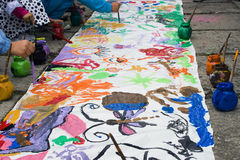 Peintures 1 de rue Photos libres de droits