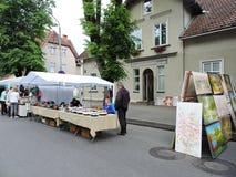 Peintures en vente de rue Photographie stock