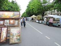 Peintures en vente de rue Photos libres de droits