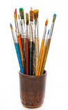 Peintures et brosses Images libres de droits