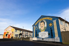 Peintures murales de Belfast Photos stock