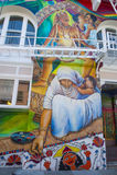 Peintures murales de mission Photo stock