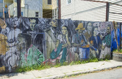 Peintures murales de mission Photographie stock