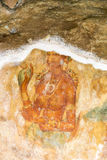 Peintures murales de Sigiriya de Sri Lanka du 5ème siècle Images libres de droits