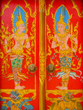 Peintures murales de temple de la Thaïlande Photo stock