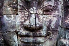 Peintures murales et temple en pierre Angkor Thom de Bayon de statue Angkor Vat photographie stock libre de droits