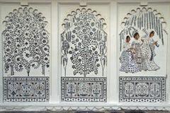 Peintures murales indiennes Photo libre de droits