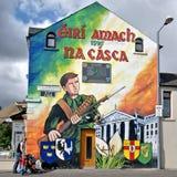 Peintures murales politiques, Belfast, Irlande du Nord images libres de droits