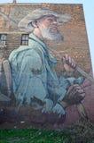 Peintures murales sur le marché sur Gratiot à Detroit Image stock