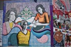 Peintures murales très créatives très belles d'allée de clairon, 10 Images libres de droits
