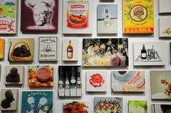 Peintures sur l'affichage Photographie stock
