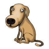 Peinzend puppy vector illustratie