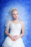 Peinzende bruid Stock Foto