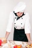 Peinzende chef-kok Royalty-vrije Stock Afbeeldingen