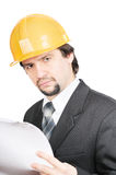 Peinzende ingenieur Stock Foto