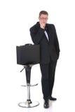 Peinzende zakenman Stock Foto